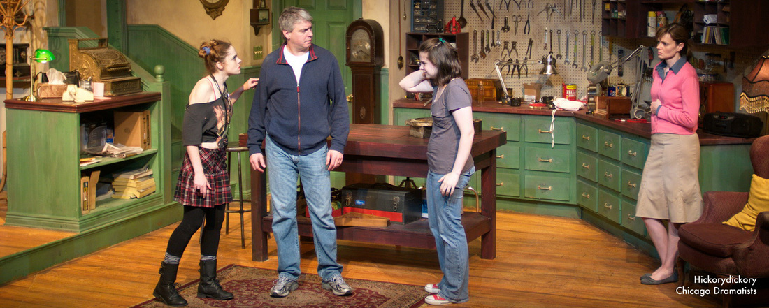 Cathlyn Melvin in Hickorydickory at Chicago Dramatists